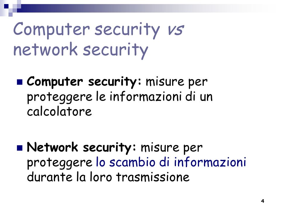 Computer security vs network security