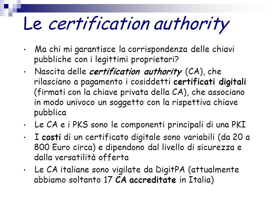 Le certification authority