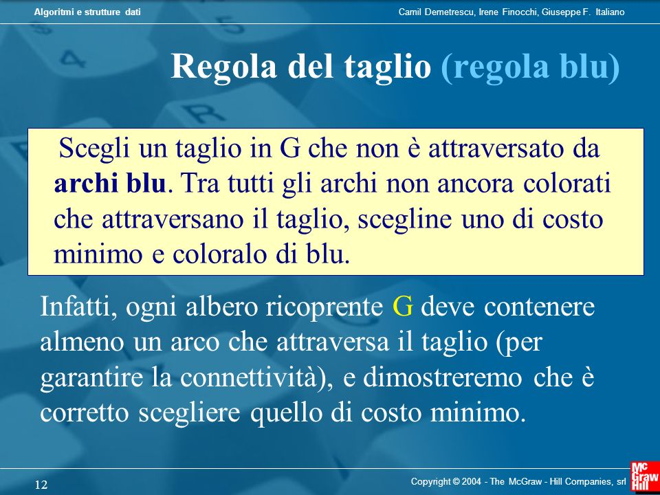 Regola del taglio (regola blu)