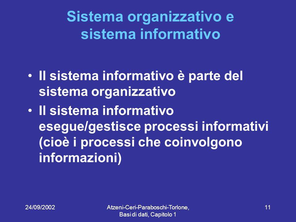 Sistema organizzativo e sistema informativo