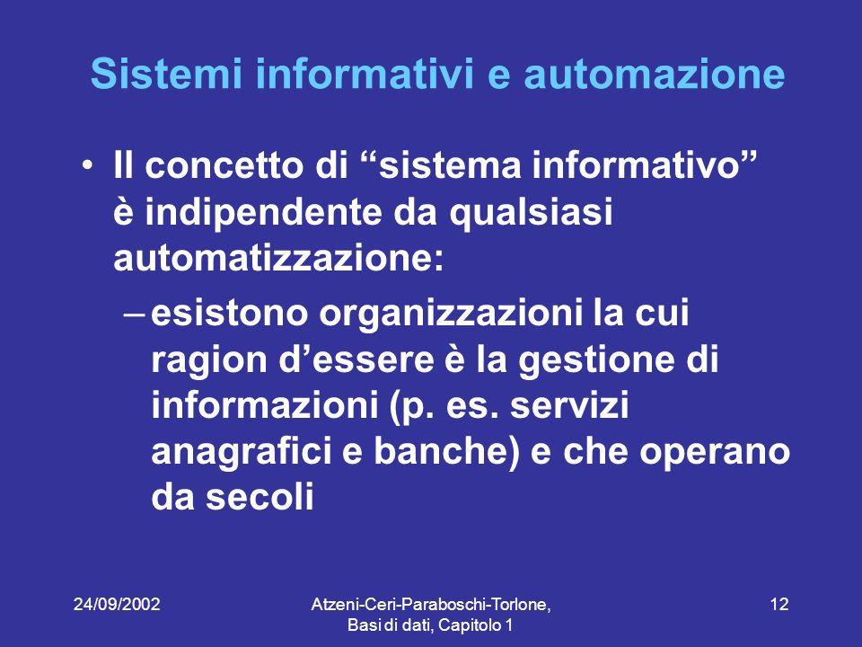 Sistemi informativi e automazione