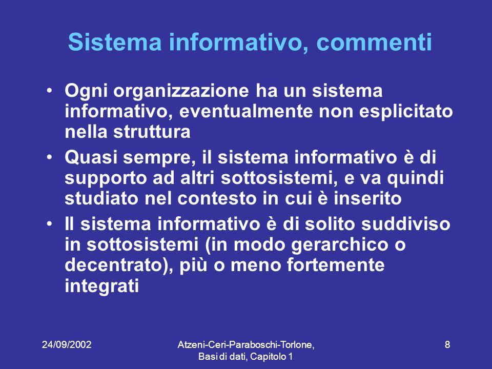 Sistema informativo, commenti