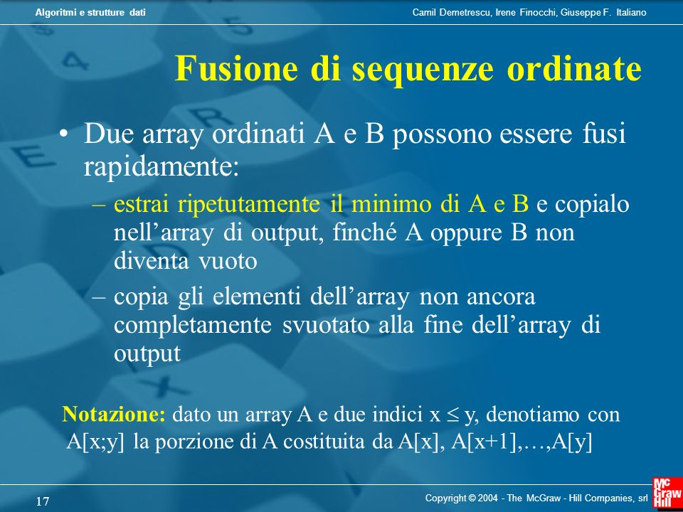 Fusione di sequenze ordinate