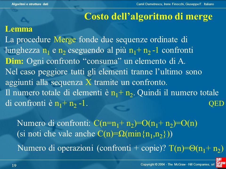 Costo dell'algoritmo di merge