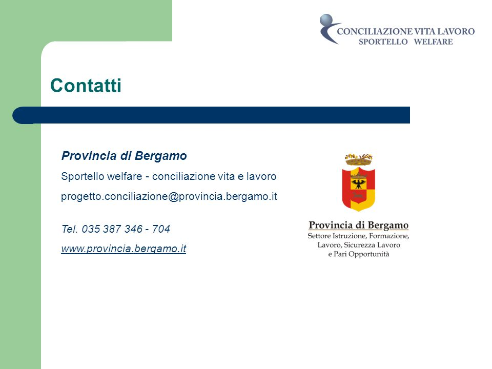 Contatti Provincia di Bergamo