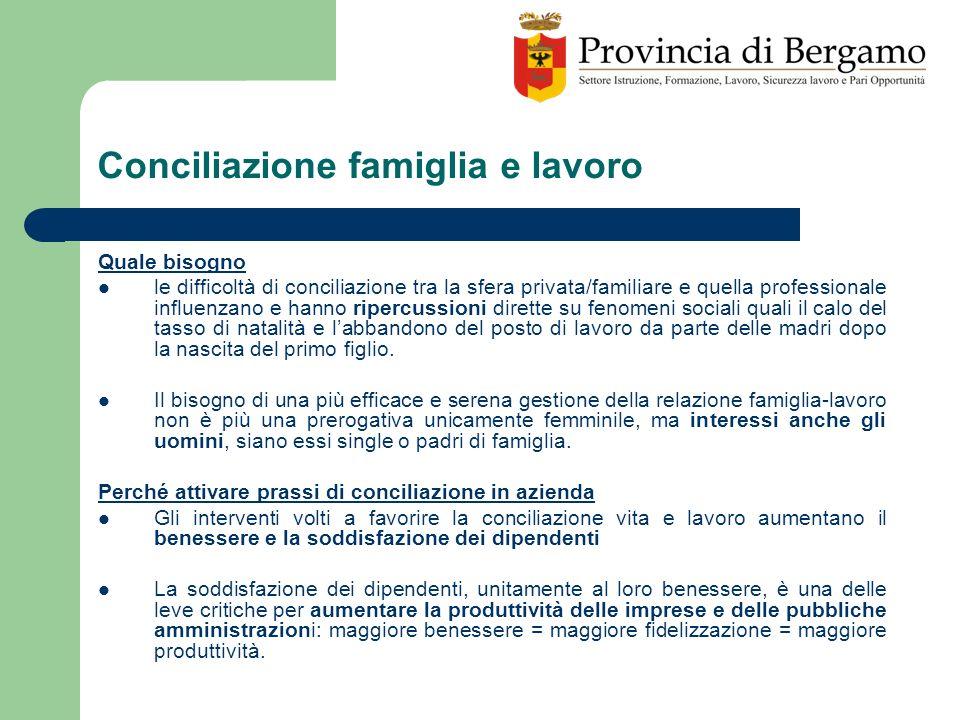 Conciliazione famiglia e lavoro