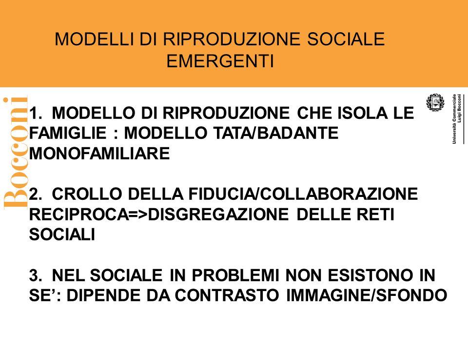 MODELLI DI RIPRODUZIONE SOCIALE EMERGENTI
