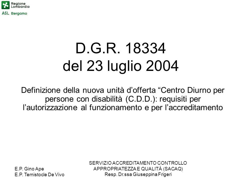 D.G.R. 18334 del 23 luglio 2004