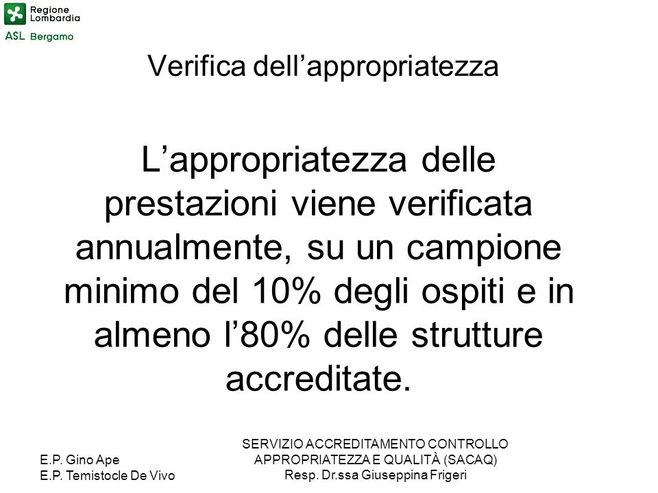 Verifica dell'appropriatezza