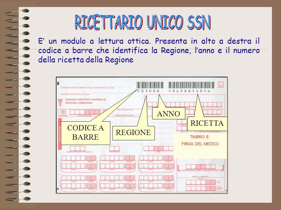 RICETTARIO UNICO SSN
