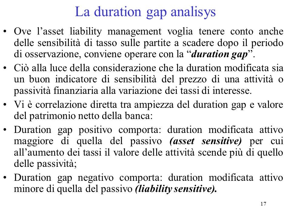 La duration gap analisys