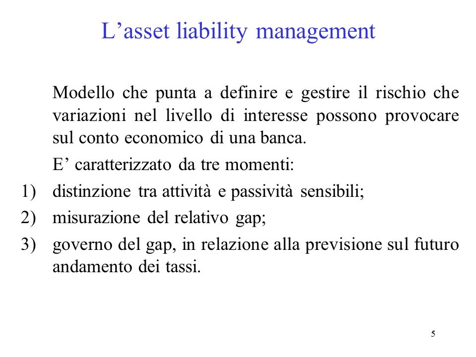 L'asset liability management