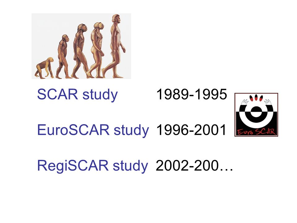 SCAR study 1989-1995 EuroSCAR study 1996-2001 RegiSCAR study 2002-200…