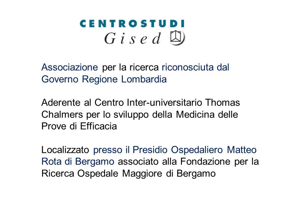Associazione per la ricerca riconosciuta dal Governo Regione Lombardia