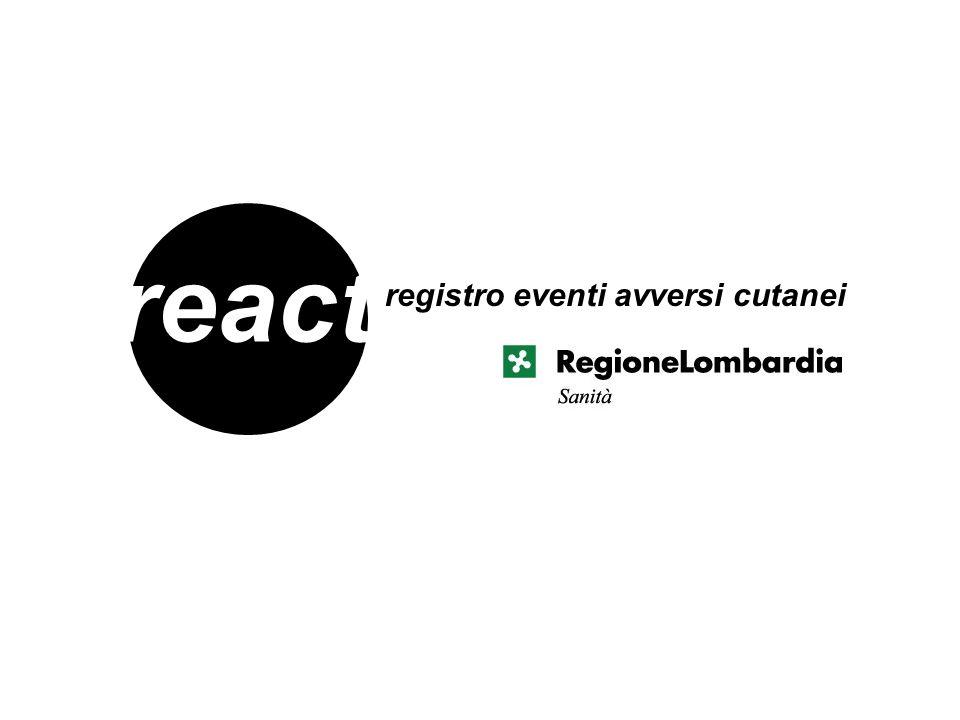 react registro eventi avversi cutanei