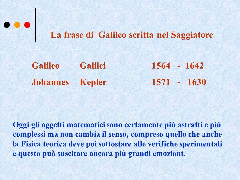 La frase di Galileo scritta nel Saggiatore