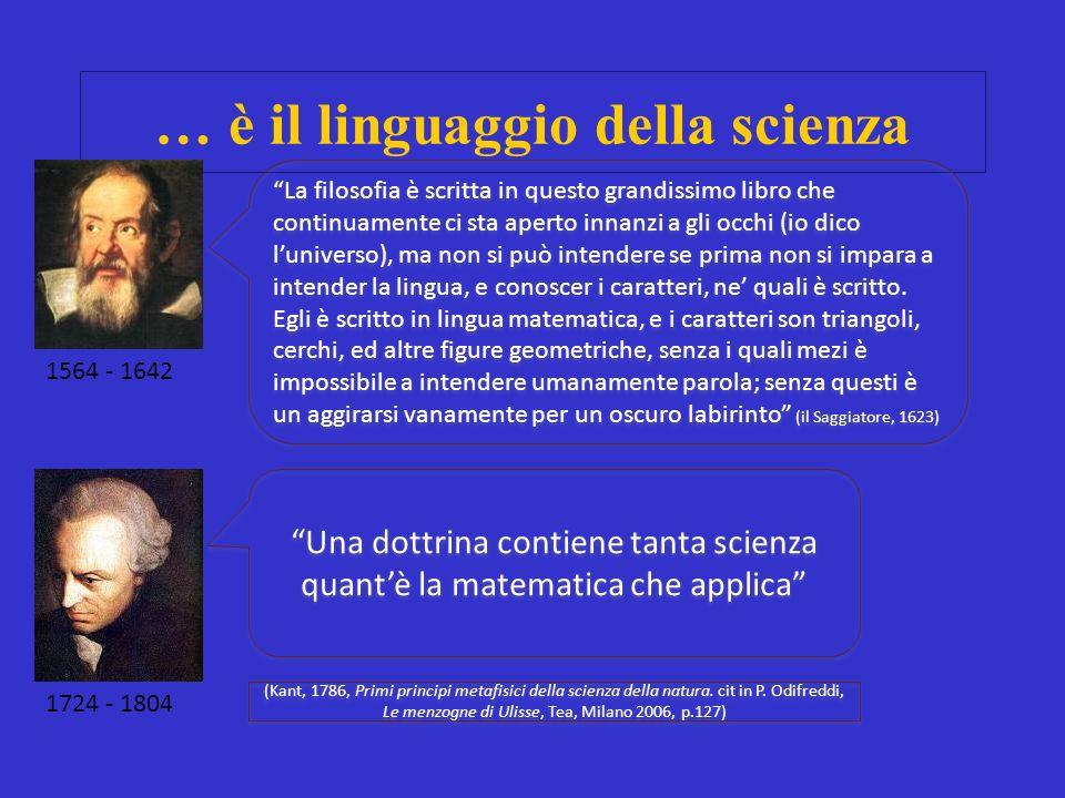 … è il linguaggio della scienza