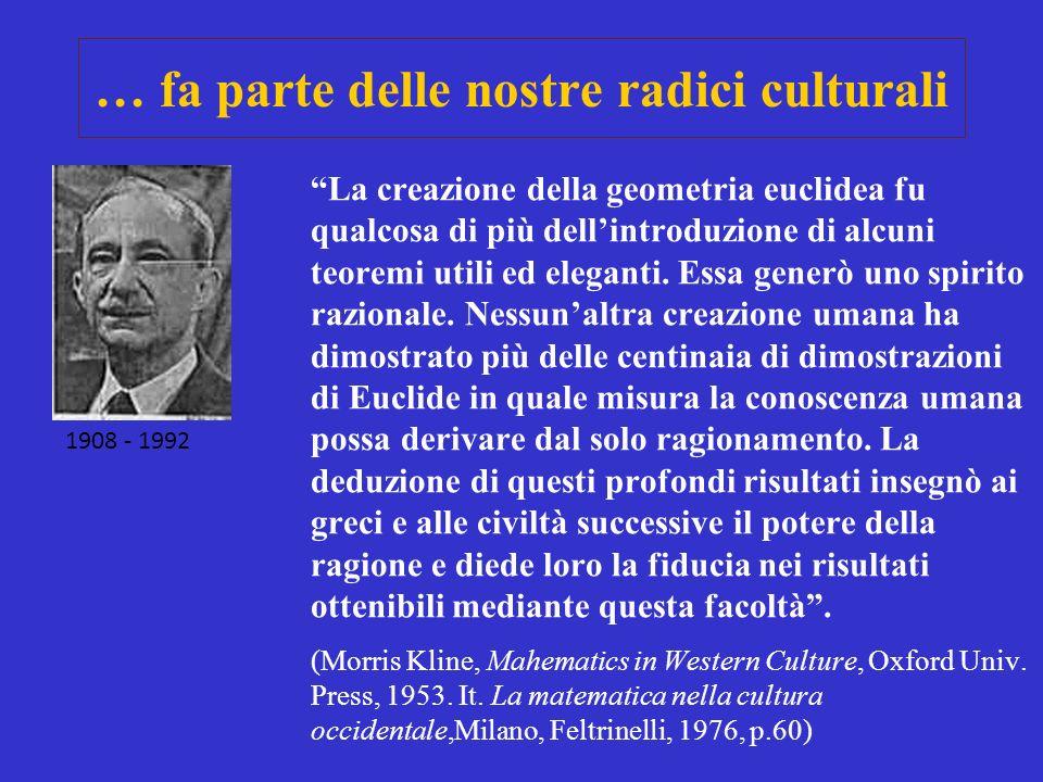 … fa parte delle nostre radici culturali