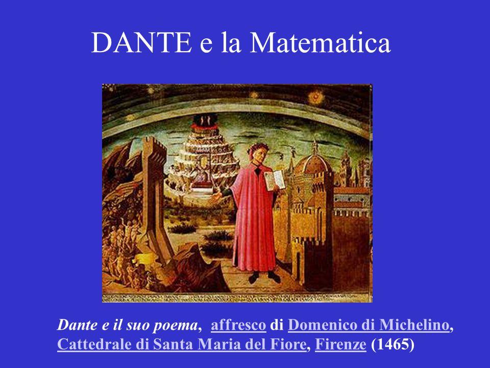 DANTE e la Matematica Dante e il suo poema, affresco di Domenico di Michelino, Cattedrale di Santa Maria del Fiore, Firenze (1465)