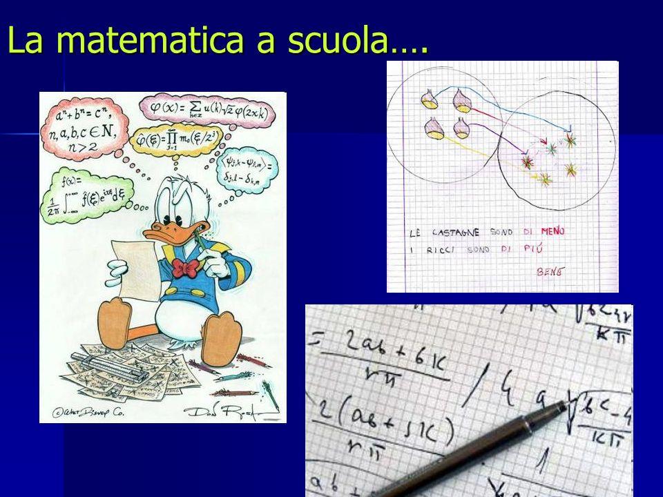 La matematica a scuola….