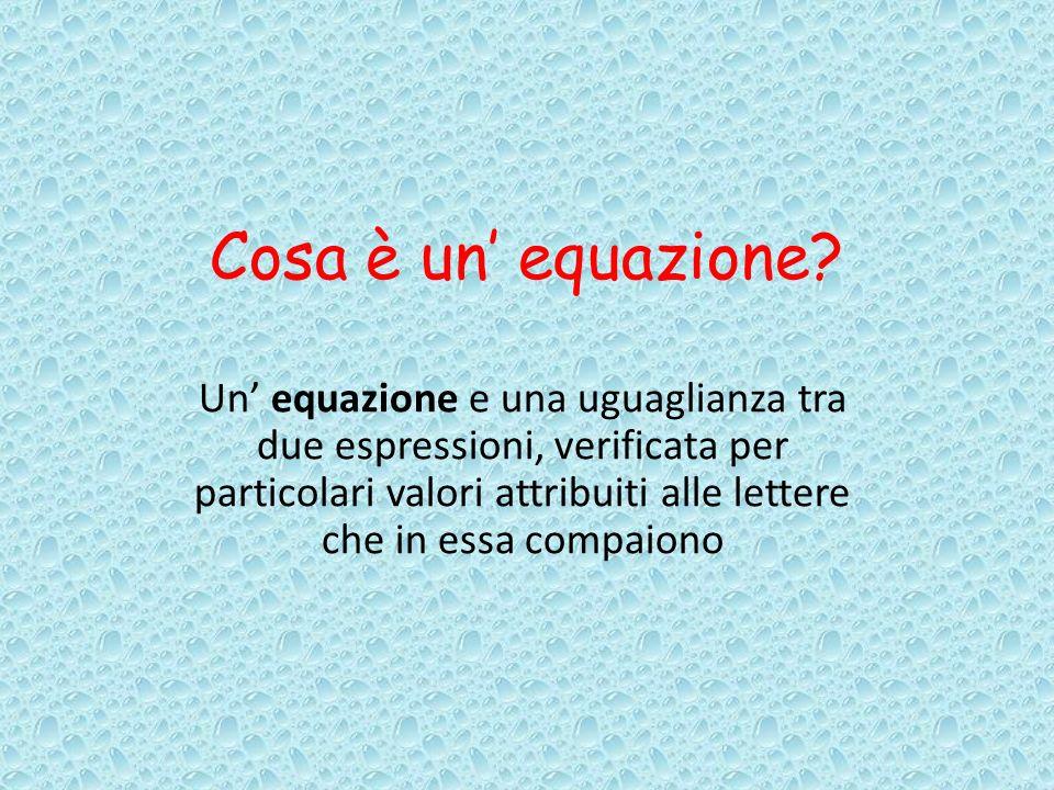 Cosa è un' equazione