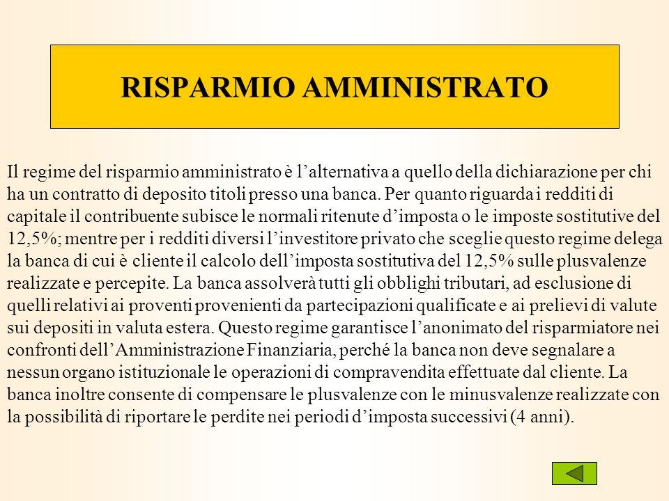 RISPARMIO AMMINISTRATO