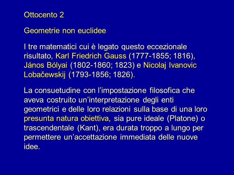Ottocento 2 Geometrie non euclidee.