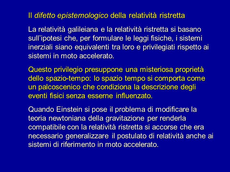 Il difetto epistemologico della relatività ristretta