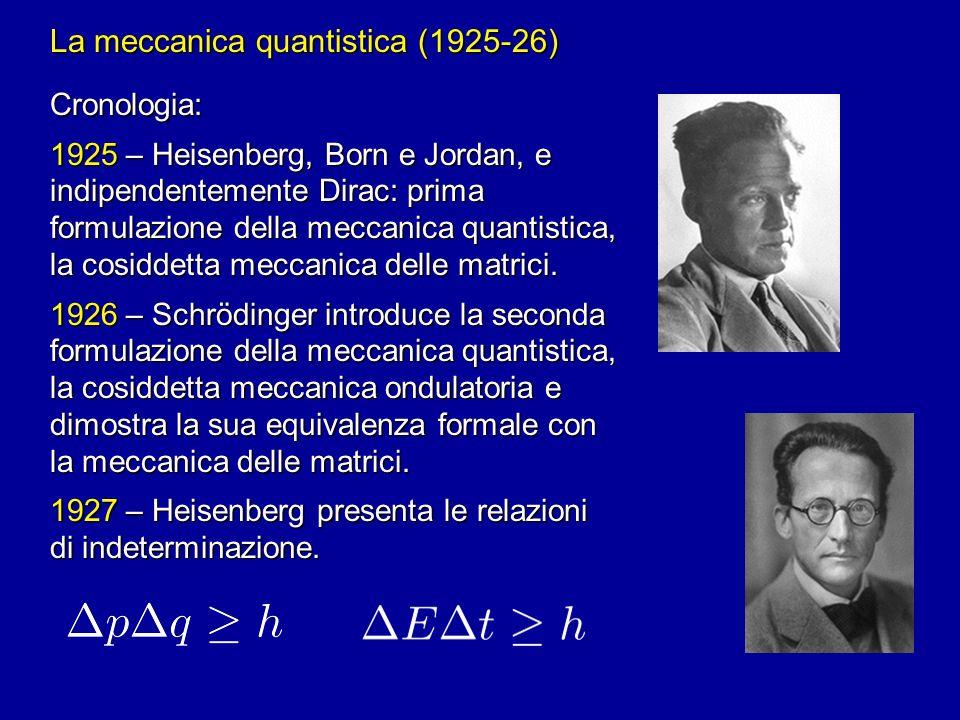 La meccanica quantistica (1925-26)