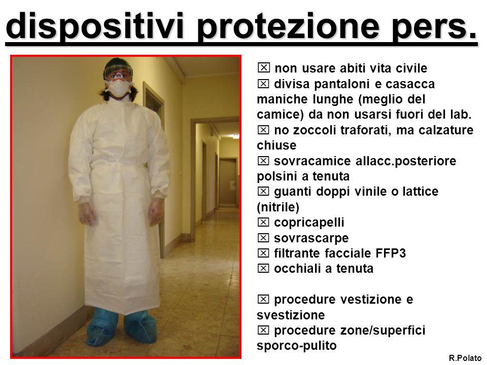 dispositivi protezione pers.