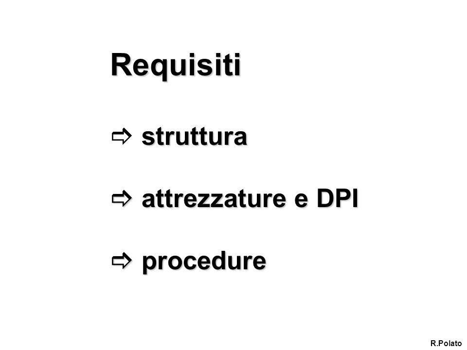 Requisiti struttura attrezzature e DPI procedure R.Polato
