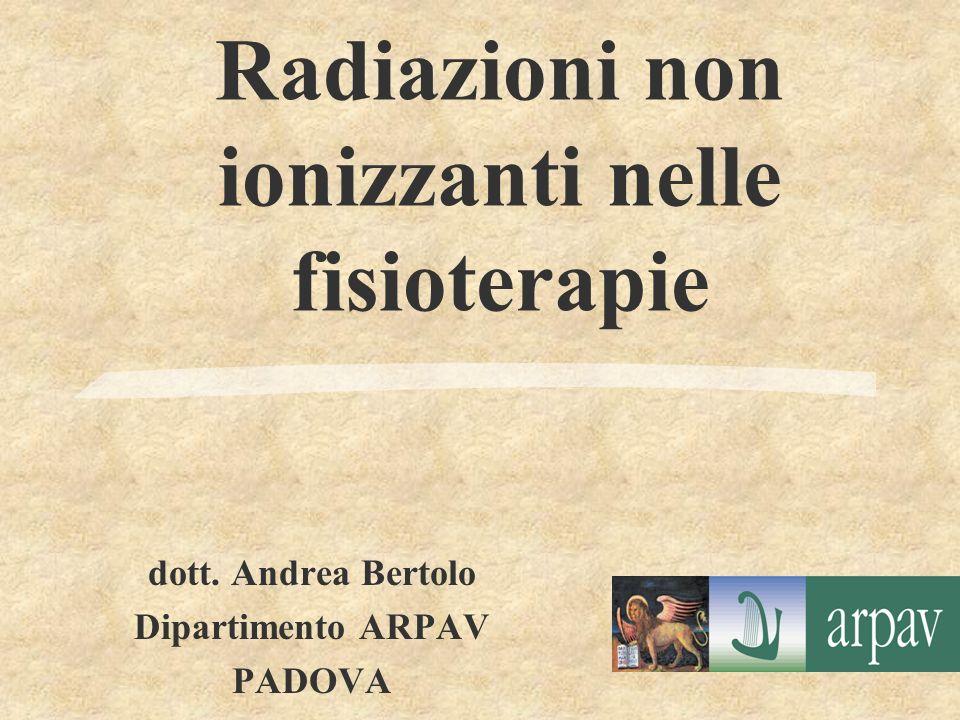 Radiazioni non ionizzanti nelle fisioterapie
