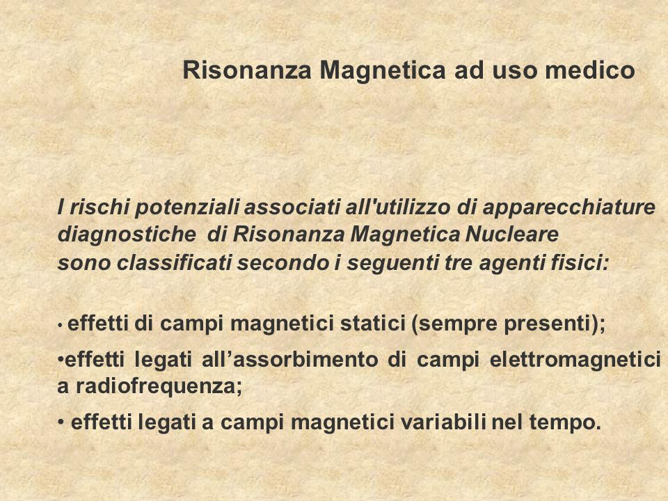 Risonanza Magnetica ad uso medico
