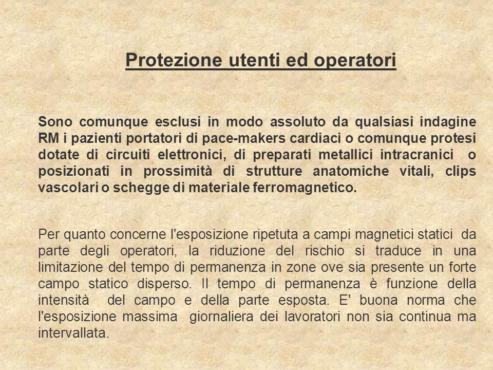 Protezione utenti ed operatori