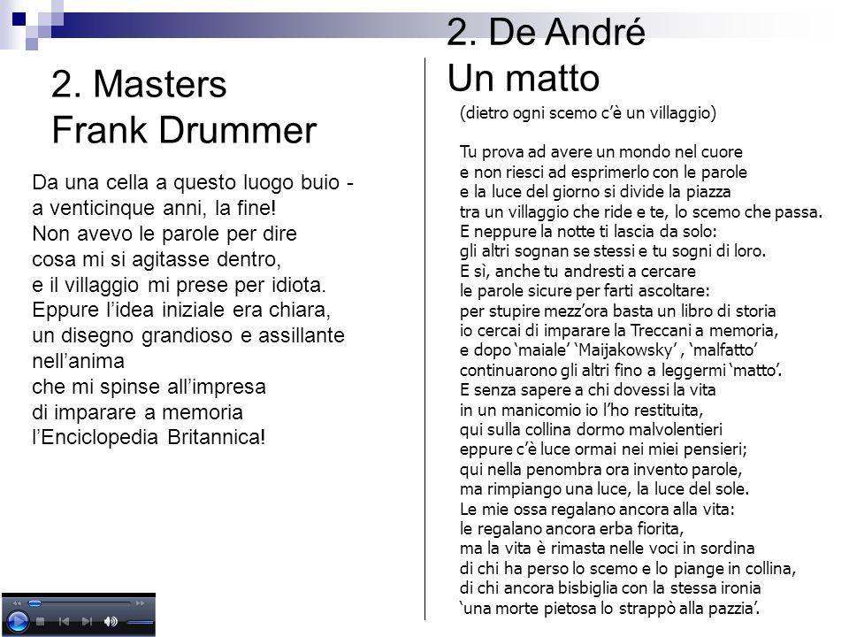 2. De André Un matto 2. Masters Frank Drummer
