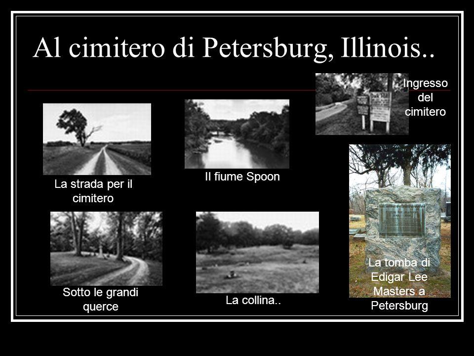 Al cimitero di Petersburg, Illinois..