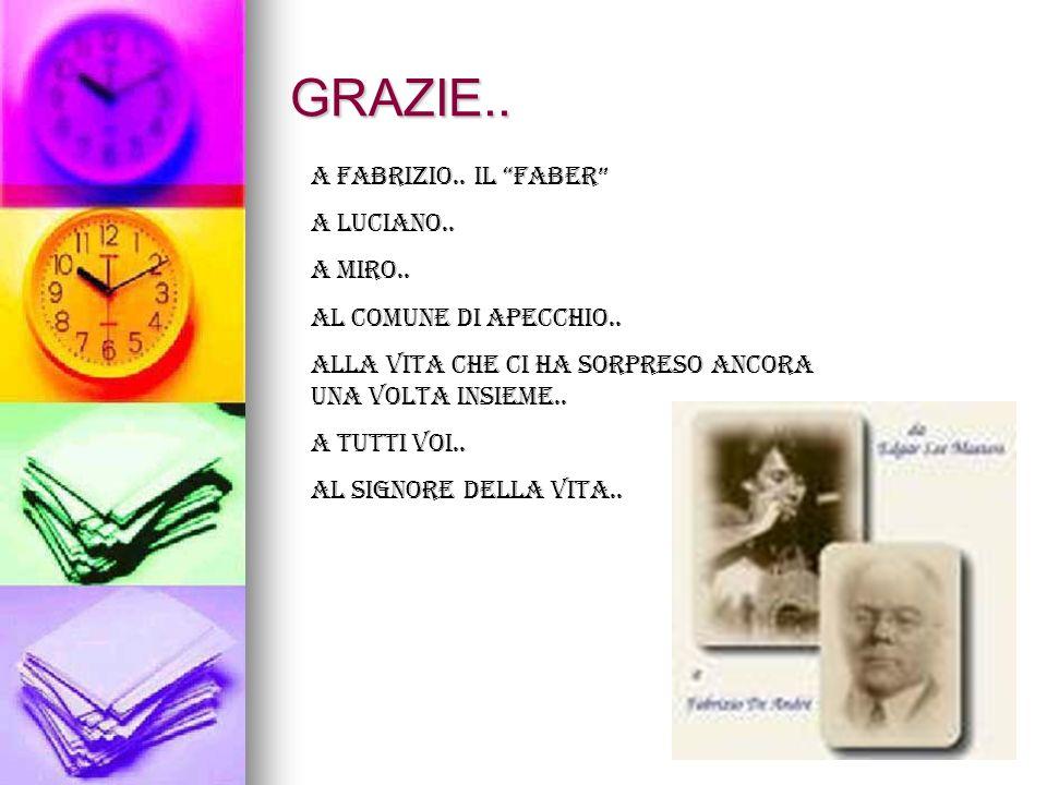 GRAZIE.. A Fabrizio.. Il Faber A Luciano.. A Miro..