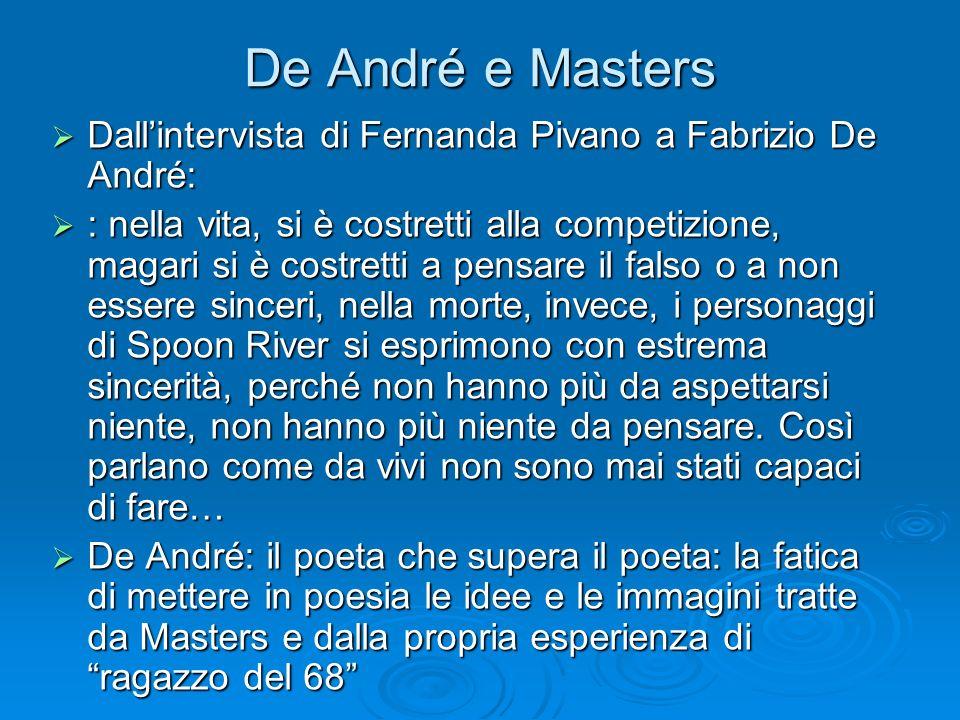 De André e Masters Dall'intervista di Fernanda Pivano a Fabrizio De André: