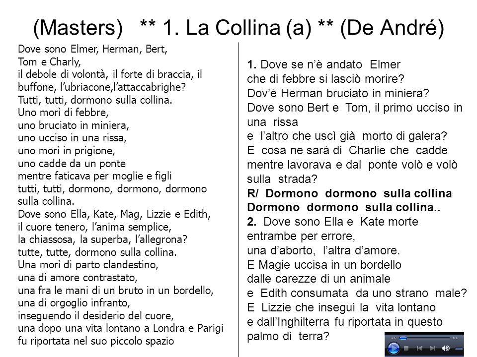 (Masters) ** 1. La Collina (a) ** (De André)