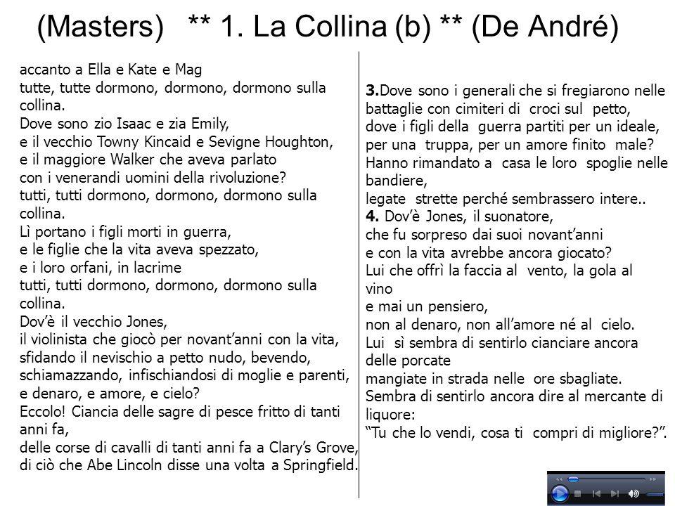 (Masters) ** 1. La Collina (b) ** (De André)