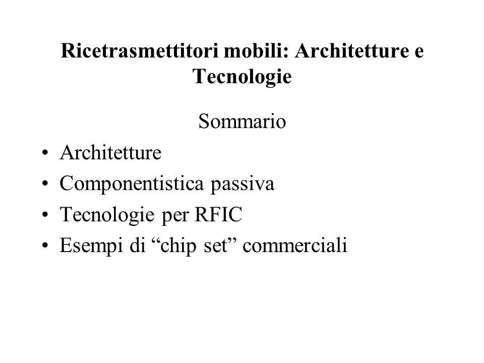 Ricetrasmettitori mobili: Architetture e Tecnologie