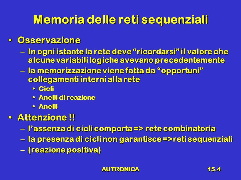 Memoria delle reti sequenziali