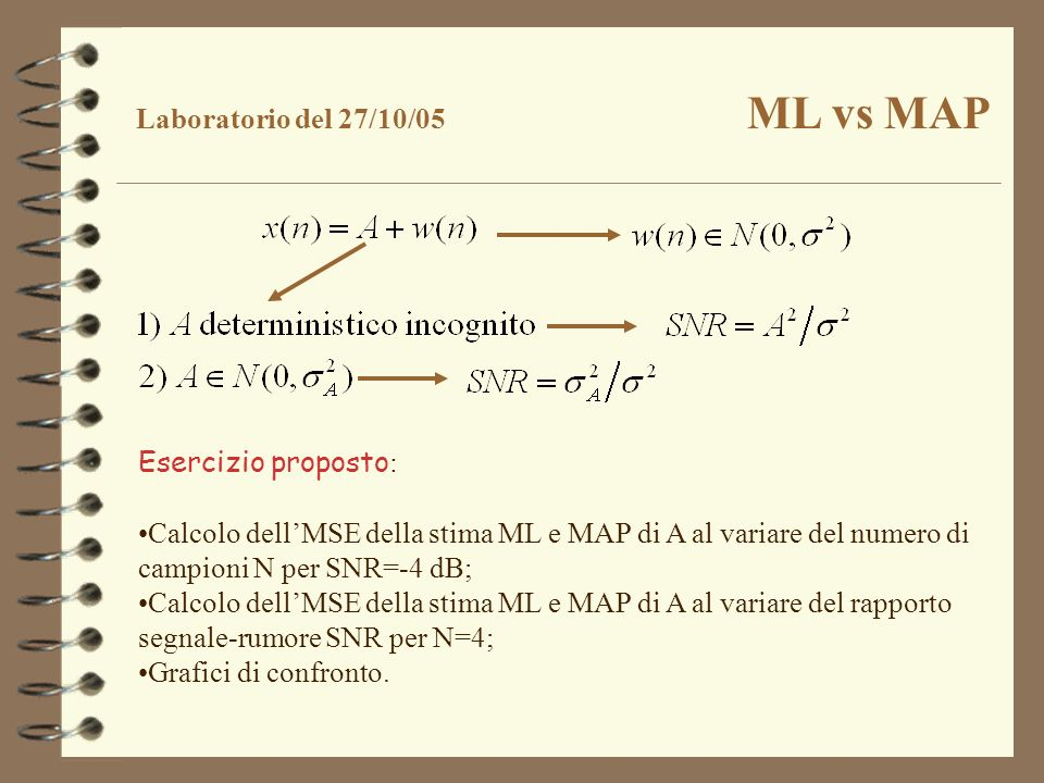 Laboratorio del 27/10/05 ML vs MAP