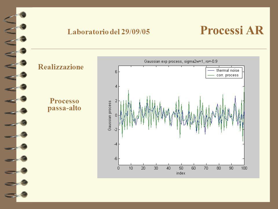 Laboratorio del 29/09/05 Processi AR