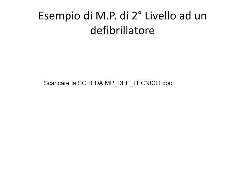 Esempio di M.P. di 2° Livello ad un defibrillatore