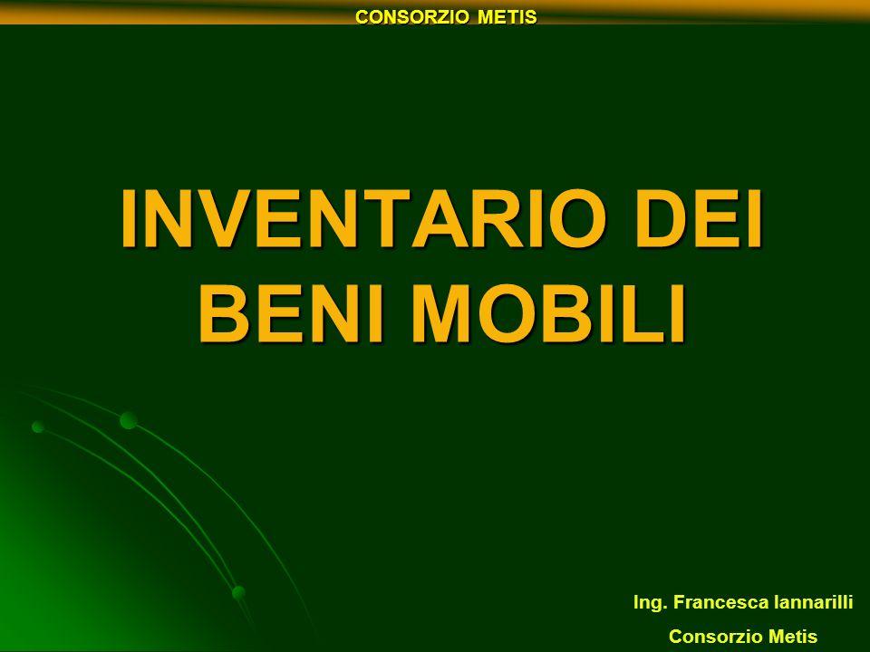 INVENTARIO DEI BENI MOBILI