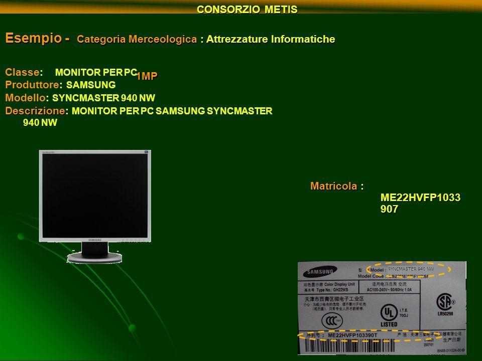 Esempio - Categoria Merceologica : Attrezzature Informatiche