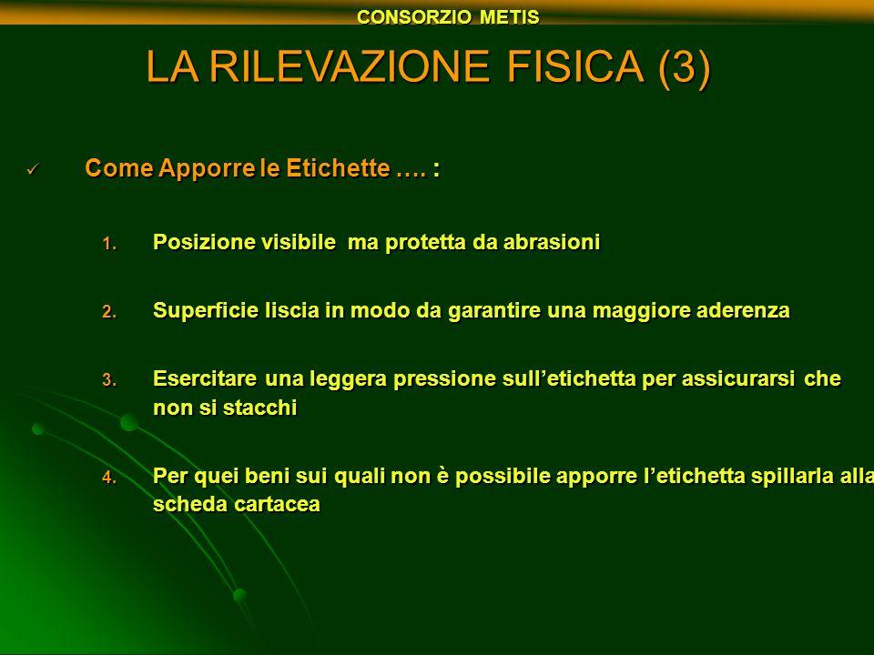 LA RILEVAZIONE FISICA (3)