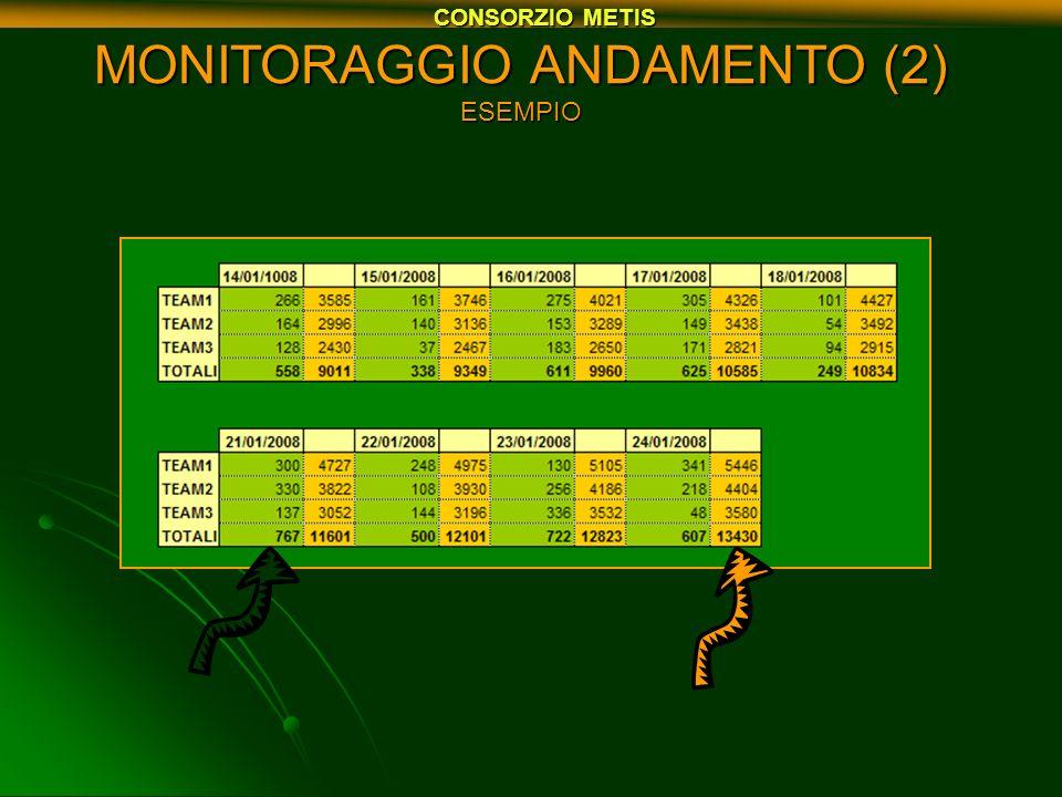 MONITORAGGIO ANDAMENTO (2) ESEMPIO