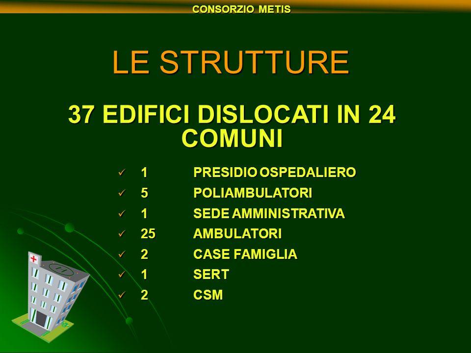 37 EDIFICI DISLOCATI IN 24 COMUNI